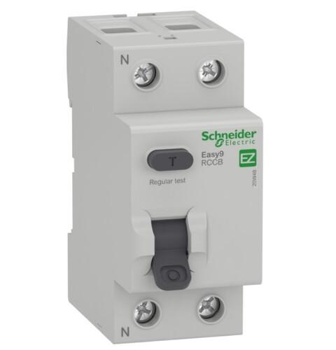 Schneider - Schneider 2X25A 30mA Kaçak Akım Rölesi EASY9 MO EZ9R05225