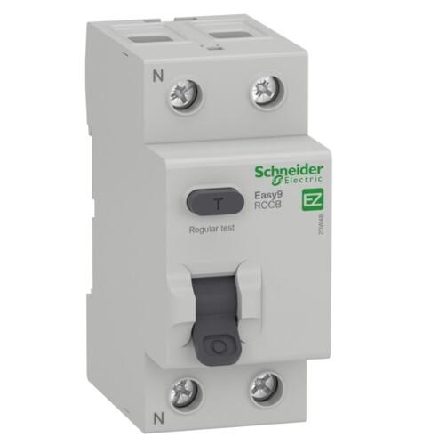 Schneider - Schneider 2X40A 300mA Yangın Koruma EASY9 MO EZ9R63240