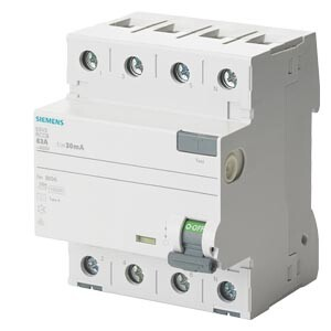 Siemens - 4X63A 30mA , TİP-A 3F+N KAÇAK AKIM RÖLESİ SIEMENS