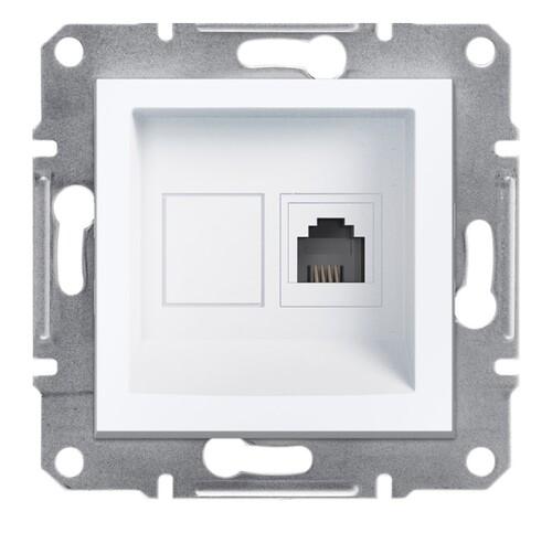 Schneider - Schneider Asfora 1*RJ11 Beyaz Sıva Altı Çerçevesiz Priz