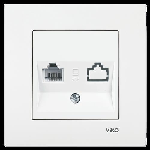 Viko - Viko Karre Meridian Beyaz Nümeris Telefon Prizi Mekanizma 90967013