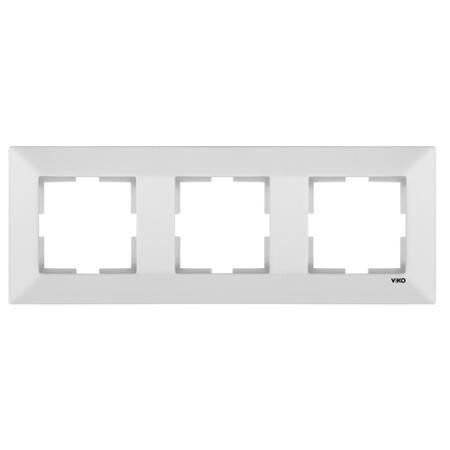 Viko - Viko Karre Meridian Beyaz Üçlü Yatay Çerçeve 90979003