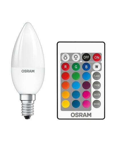 Osram - LEDBULB 5,5W RGB UZAKTAN KUMANDALI BUJİ E14 AMPUL