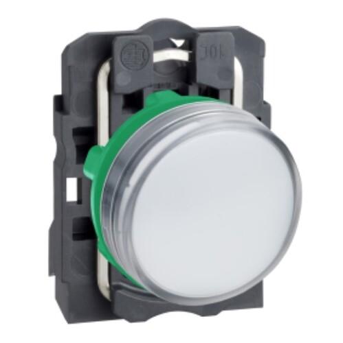 Schneider - Schneider Stil5 Q22 220V AC LEDli Beyaz Sinyal Lambası XB5AVM1