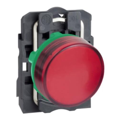Schneider - Schneider Stil5 Q22 220V AC LEDli Kırmızı Sinyal Lambası XB5AVM4