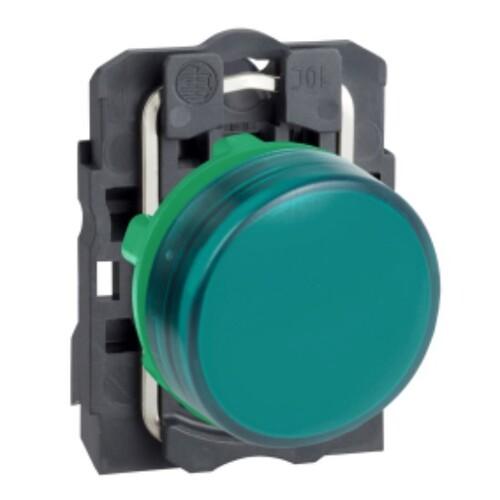 Schneider - Schneider Stil5 Q22 220V AC LEDli Yeşil Sinyal Lambası XB5AVM3