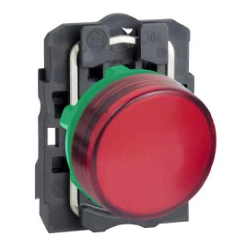 Schneider - Schneider Stil5 Q22 24V AC-DC LEDli Kırmızı Sinyal Lambası XB5AVB4