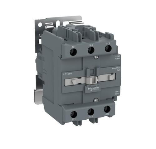 Schneider - Schneider TVS 37KW 80A 220VAC 3P 1NA+1NK Kontaktör LC1E80M5